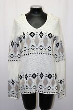 Sanctuary Knit Hoodie Sweater Long Sleeve Winters Tale White Maple Silver XS