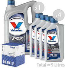 Engine Oil and Filter Service Kit 9 LITRES Valvoline SynPower C3 5W-30 9L