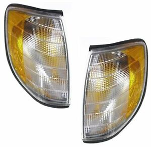 Parking Light For 95-99 Mercedes Benz S320 S500 Set of 2 Left & Right Side