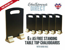A5 210mm x 148mm chalkboard/handheld table top menu black board pack of 6 (A5-H)