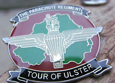 PARACHUTE REGIMENT TOUR OF ULSTER RIR UDR PARA POPPY ARMY BRITISH UVF PIN BADGE