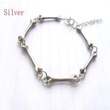 Bone Skeleton Curved Cuff Bangle Bracelet Vintage Europe America Jewelry