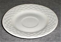 "Gibson White Sarasota Basketweave Wicker 6.25"" Saucer - Lot of 3"