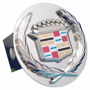 """Cadillac Chrome Stainless Steel 2"""" Trailer Tow Hitch Cover"""