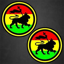 2 Rasta Sticker Patch Decal Reggae Lion Of Judah Vinyl Car Window Beach Tropical
