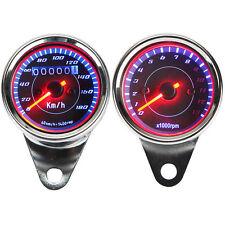 Odometer Speedometer Tachometer For Honda CB VT Yamaha Harley Cafe Racer Cruiser