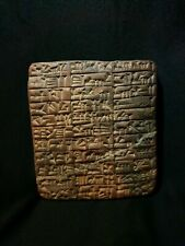 VeryRare Beautiful NearEastern Cuneiform Clay Tablet With Early Form Of writings