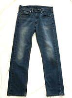Levi Levi's 505 Regular Fit Straight Leg Jeans Medium Wash Distressed 30 x 30