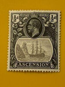 Scott/SG 10 ASCENSION 1924 1/2d Black & Gray KGV MLH