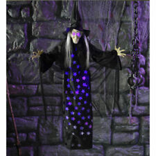 New! Halloween Party / Prop Animated Hanging Star Witch Decoration Wide-75cm