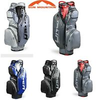 Sun Mountain 2020 H2NO Waterproof 15 Way Divider Staff Golf Cart Bag