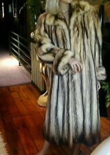WOMENS FITCH FUR COAT  STUNNING Size S - M