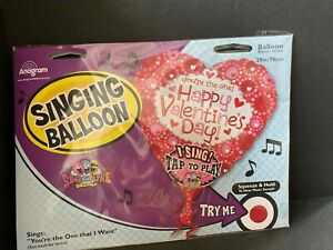 """My One and only Valentine 29"""" Singing Balloon """"You're the One I Want"""
