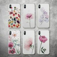 Clear Flower Case Transparent Floral Cover For iPhone 12 11 Pro Max X XR XS 7 8