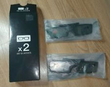 More details for samsung 3d glasses ssg-5100gb 2 pairs for 3d tv - brand new