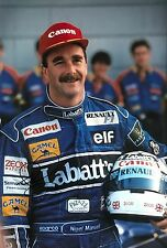 Nigel Mansell Hand Signed Canon Williams Renault 18x12 Photo F1.