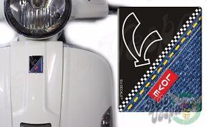 Front Badge Overlay V on Black Love Denim 3D Decals sticker Vespa Gts Gt ET PX S