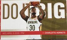 New Orleans Pelicans vs Charlotte Hornets Ticket Stub 4/3/19