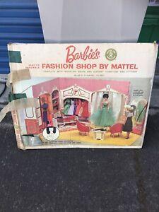 Vintage 1962 Barbie Fashion Shop with accessories by Mattel cardboard boutique