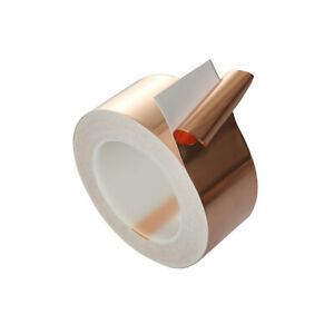 25M Length Conductive Copper Foil Tape Self  Adhesive Guitar Supplies craft