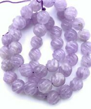 """50 Genuine Swirl Carved Cape Amethyst Beads - 8mm Round -  Quality 16"""" Strand"""