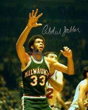 Bucks KAREEM ABDUL-JABBAR Signed 8x10 Photo Milwaukee Bucks- 1971 NBA Champs rep