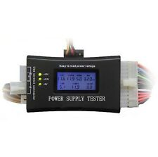 Digital LCD PC Power Supply Tester ATX/BTX/ITX/TFX 20 24 PIN 4 SATA HDD Testers