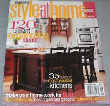 Style at Home Magazine September 2008 120 Brilliant Organizing Ideas.