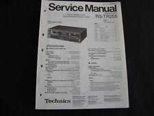 Original Service Manual Technics RS-TR255