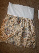 Htf! Ralph Lauren Marakesh Rug Gold Blue Floral King Split Bed Skirt Marrakesh