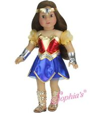 Wonder Woman Super Hero Costume 5 Piece Set for 18 Inch American Girl Doll