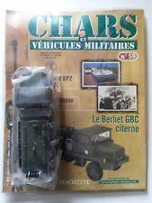 Solido Berliet GBC citerne neuf boite Char véhicule militaire fascicule