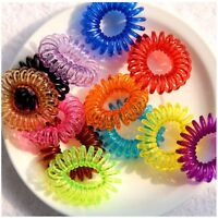 10X Girl Spiral Elastic Rubber Hair Ties Rope Ponytail Holder Bobbles Band Hot