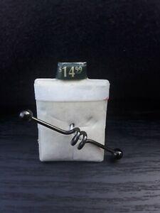 Steel Industrial Bar Loop Dark Grey 14G Piercing Pagoda Ear Body Jewelry