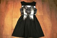 NEW! COAST pleated skater dress SIZE 10 party evening occasion ball prom silky
