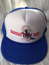 VINTAGE HAROLDS CLUB RENO NEVADA TRUCKER HAT