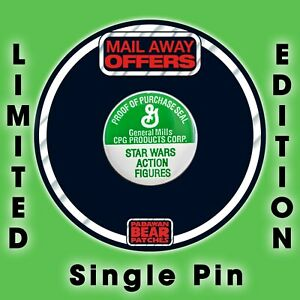 Green Kenner STAR WARS VintageAction Figure Proof of Purchase Seal Enamel pin