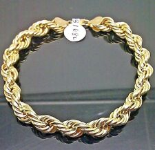 10K Yellow Real Gold Rope Bracelet 7mm, 8 inch Long,Men's /Ladies Sale Event