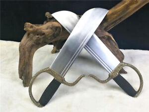 Set Battle Wing Chun Butterfly Sword Dao Broadsword Sharp 1090High Carbon Steel