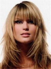 Layered Style Long Straight Hair 16 Inches Attractive Blonde Wig