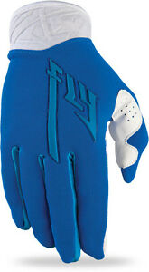 CLEARANCE NEW Fly Racing Pro Ultra Lite Gloves Blue/White MX Moto ATV Adult 12