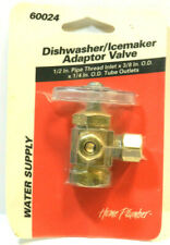 """1/2"""" x 3/8"""" x1/4"""" Outside Diameter 90 Degree Angle Valve brass water supply"""