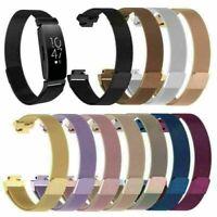 Armband Edelstahl Metall Uhrenarmband Ersatzband für Fitbit Inspire & Inspire HR