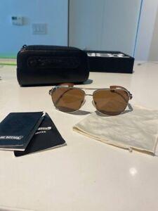 CHROME HEARTS THE BEAST Sunglasses Men's MAHOGANY WOOD Limited Edition Japan