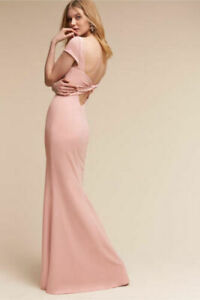 Katie May Madison Pink Rose Pink Twist Open Back Maxi Dress Bridesmaid 0 2 6