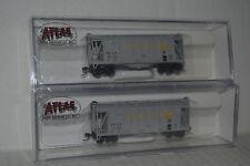 2 Atlas Amber Milling GATX Airslide Hopper N Scale