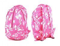 NEW  LADIES BACKPACK RUCKSACK SCHOOL GYM SPORT TRAVEL BAG PINK LIGHT WEIGHT