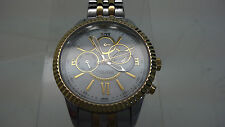 Anne Klein 12/2149 Women's Two Tone Day Date Mother of Pearl Dial USED AS- IS