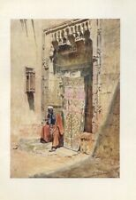 WALTER TYNDALE Watercolour Plate Print from an Antique Book