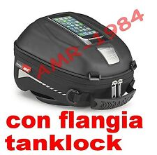 BORSA SERBATOIO GIVI BMW F650 F700 F800 GS  + FLANGIA BF15 TANKLOCK GIVI ST602